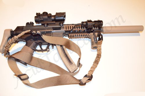 Learn More About AcidTactical® 2 Two Point Bungee Sling - COLOR FDE Dark Earth TAN