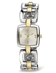 M&S Collection Square Face Analogue Link Chain Watch