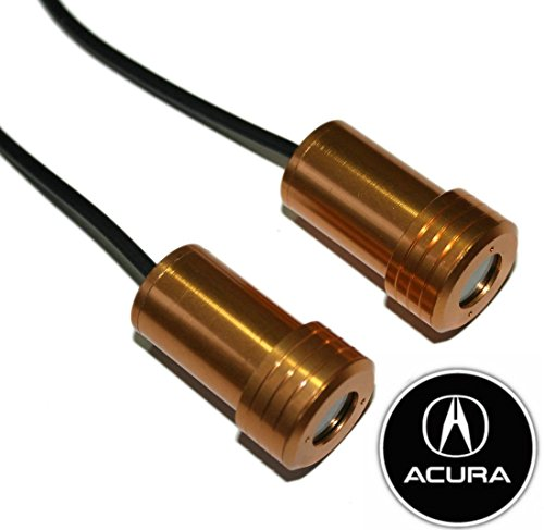 2 X 5Th Gen Led Car Door Ghost Shadow Laser Projector Logo Light For Acura Ilx Tsx Tl Rlx Rdx Mdx Zdx