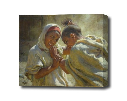 Etienne Dinet La Dispute 1904 Canvas Wall Art Ready To Hang 14 X 11