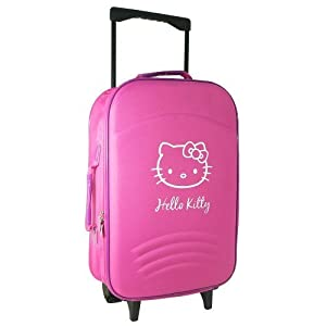 Hello Kitty Travel Flight Cabin Wheeled Trolley Suitcase Bag Hand Luggage Pink