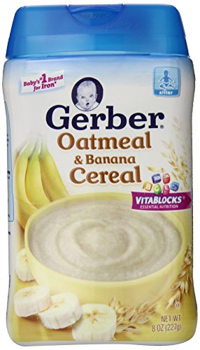Gerber Oatmeal and Banana Baby Cereal, 8 Ounce (Pack of 6) (Gerber Banana Rice Cereal compare prices)