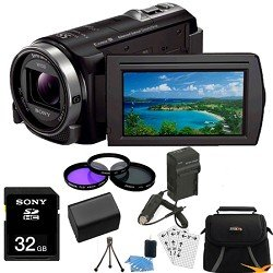 Sony HDR-CX430V HDR-CX430 HDR-CX430V CX430 High Definition Handycam Camcorder with 3.0-Inch LCD (Black) Essentials Bundle with 32GB Card, Spare Battery, External Rapid Charger, Case, Mini Tripod + More!