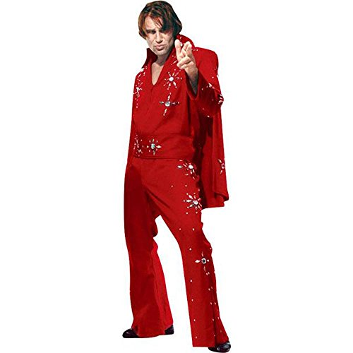 Men's Red Medium Elvis Costume
