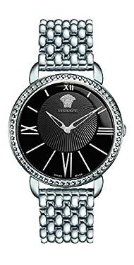 Versace Women's VQQ050015 Krios Analog Display Swiss Quartz Silver Watch