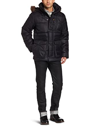 G-Star Raw Men's Whistler Hooded Field Jacket, Black, X-Large