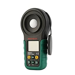 Mastech MS6612 Digital Lux / FC Meter with 40-segment Bar Graph, 0-200,000 Lux