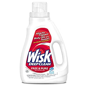 Wisk Deep Clean Liquid Laundry Detergent, Free & Pure
