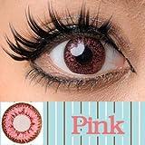 処方箋不要 princess color カラー コンタクト レンズ 1箱2枚入 1ヶ月交換 度なし ピンク ランキングお取り寄せ