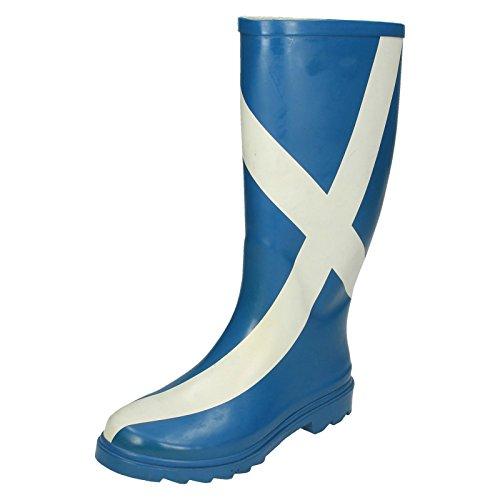 Funky-Ladies-Scottish-Flag-Print-Damen-Gummistiefel-Regen-Stiefel-Festival-Gummistiefel-6-UK