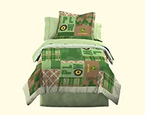 John Deere Bedding Boys Quilt and Sham Set, Twin Size