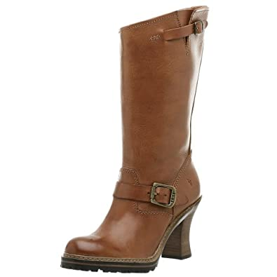 Amazon.com: FRYE Women's Mildred Engineer Boot,Cognac,7 M