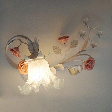 Modern Rustic Flower Wall Mount Lantern Lamp Night Light Dinning Room/Bed Room/Living Room/Deck Lamp Garden Outdoor Landscape