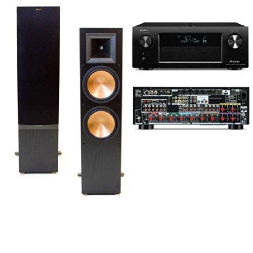 Klipsch Rf-7 Ii Floorstanding Speaker (Black-Pair) Denon Avr-X4000