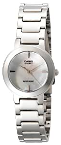 Casio Women's LTP1191A-7C Silver-Tone Shell White Dial Analog Watch