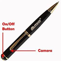 M MHB best quality Pen Camera Video/ Audio Hidden Recording Pen Camera (a) With 16gb memory.Original brand only Sold by M MHB.