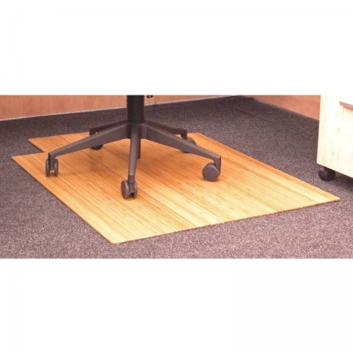 Natural 36 x 48 Bamboo Roll-Up Office Chair Mat