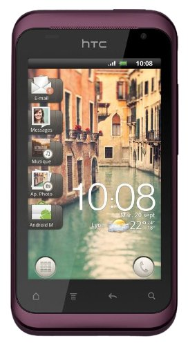 HTC Rhyme Smartphone (9.4 cm (3.7 Zoll) Touchscreen, Android 2.3 OS, 5 MP Kamera) Plum