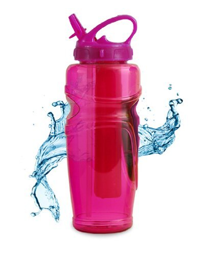 Cool Gear 32 Oz Ez-freeze Water Bottle BPA, PVC, Phthalates Free., Pink
