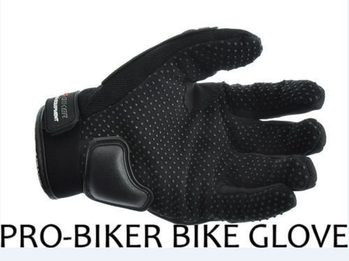 Probiker Leather Motorcycle Gloves (Black)