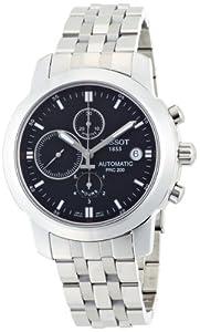 Tissot Men's T0144271105100 T-Sport PRC 200 Stainless Steel Black Dial Watch