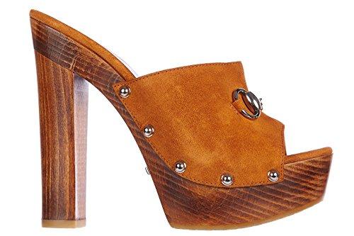 Gucci zoccolo donna originale bitter arancione EU 36 370471 CA000 6336