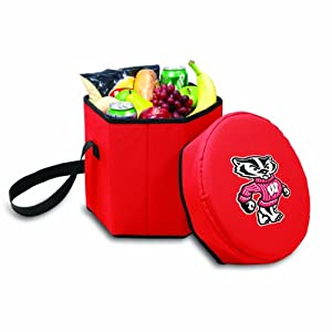 Picnic%20Time NCAA Wisconsin Badgers Bongo Insulated Collapsible Cooler, Red