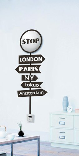 Dream Wall Decal, World Cities Marker