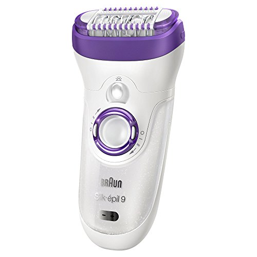 Silk Epil 9-561 Women's Wet and Dry Cordless Epilator with 6 Extras by Braun