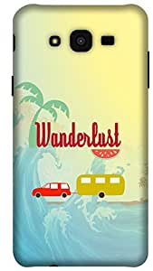 The Racoon Grip Wonderful Wanderlust hard plastic printed back case/cover for Samsung Galaxy J7
