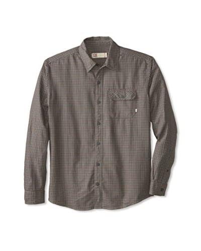 Cutter & Buck Men's Long Sleeve Hinman Check Shirt