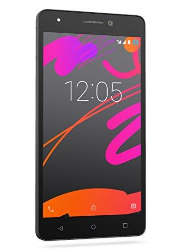 BQ Aquaris M5.5 - Smartphone de 5.5 pulgadas (4G, Wi-Fi, Bluetooth 4.0, Qualcomm Snapdragon 615 Octa Core A53 1,5 GHz, 16 GB de memoria interna, 2 GB de RAM, Android 5.1 Lollipop), negro