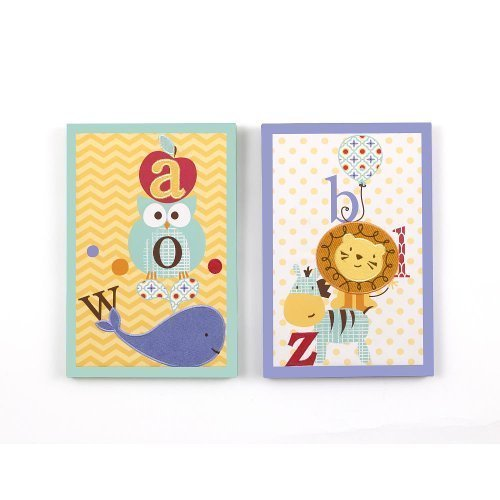 CoCaLo Alphabet Babies 2-Piece Wall Art
