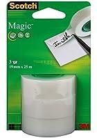 Scotch Ruban adhésif magique Invisible 3 rouleaux 19 mm x 25 m (Import Royaume Uni)