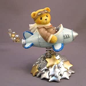 "Cherished Teddies ""Milton"" Millennium Event Airplane Bear Figurine #542644"