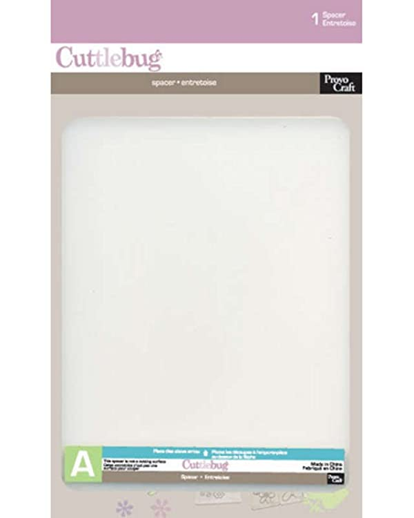 Stencil A Perforation Cuttlebug Provocraft (Color: White, Tamaño: 7/75 H x 6 W x 1/8 D)