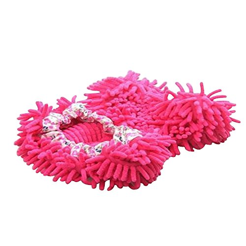 aohro-cute-dust-mop-slippers-shoes-floor-cleaner-for-house-office-kitchen-bathroom-bedroom-hot-pink