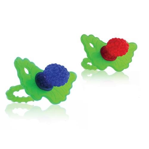 Razbaby Raz-Berry silicone Teethers Double Pack Both Colors in One Package. - 1