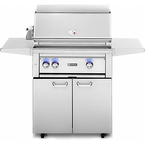 Lynx L30Psfr-2-Ng Natural Gas Grill-On Cart With Pro Sear Burner And Rotisserie, 30-Inch