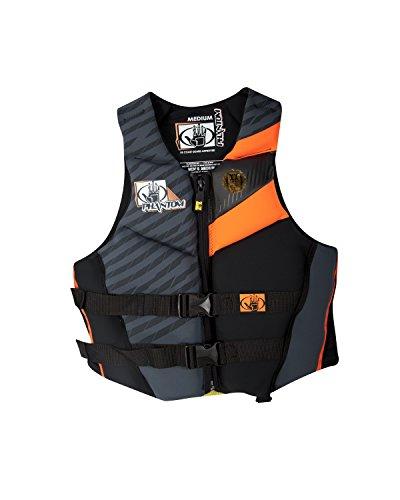 Body Glove Men's Phantom U.S. Coast Guard Approved Neoprene PFD Life Vest, Black/Orange, XX-Large