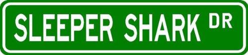 SLEEPER SHARK Street Sign ~ Fishing ~ Great Fish Sign for your Lodge, Gameroom, Basement, Garage, Barn - Buy SLEEPER SHARK Street Sign ~ Fishing ~ Great Fish Sign for your Lodge, Gameroom, Basement, Garage, Barn - Purchase SLEEPER SHARK Street Sign ~ Fishing ~ Great Fish Sign for your Lodge, Gameroom, Basement, Garage, Barn (The Lizton Sign Shop, Home & Garden,Categories,Patio Lawn & Garden,Outdoor Decor)