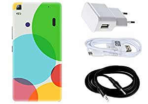Spygen LENOVO A7000/ K3 Note Case Combo of Premium Quality Designer Printed 3D Lightweight Slim Matte Finish Hard Case Back Cover + Charger Adapter + High Speed Data Cable + Premium Quality Aux