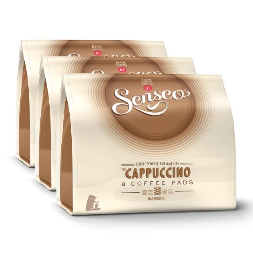 Get Senseo Cappuccino, Pack of 3, 3 x 8 Coffee Pods - Douwe Egberts