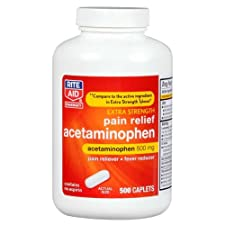 Rite Aid Acetaminophen, Extra Strength, 500 mg, 500 caplets