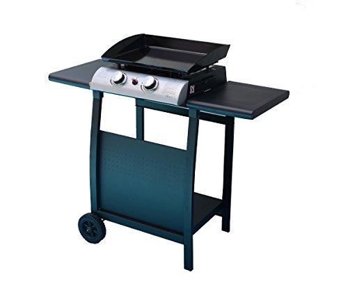 Barbecue au gaz cuisine ext rieure 2 br leurs avec thermom tre for Chariot cuisine exterieure