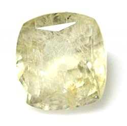 LOOSE 100% NATURAL & CERTIFIED 6.41 ct. YELLOW SAPPHIRE BIRTHSTONE BY ARIHANT GEMS & JEWELS