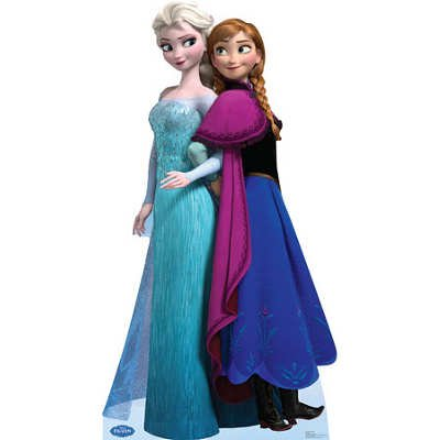 (37x70) Elsa and Anna - Disney's Frozen Lifesize Standup