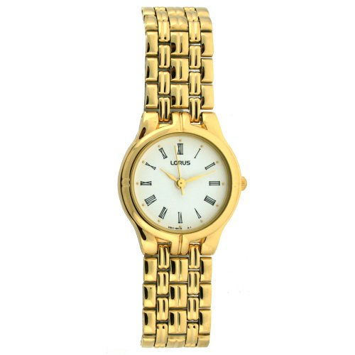 Lorus Ladies Watch Classic Gold Tone Metal Round Dial SALE