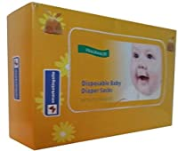 250-Count vmarketingsite Baby Disposable Diaper Sacks/Nappy Sacks. Scented Disposal Diaper Bags With Tie Handles. Convenient & Hygienic Way to Dispose of Soiled Diapers, Baby Wipes & Tissues. by vmarketingsite