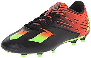 adidas Performance Men's Messi 15.3 Soccer Shoe,Black/Shock Green/Solar Red,9 M US